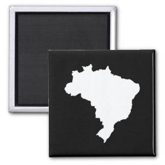 Schwarzes festliches Brasilien bei Emporio Moffa Quadratischer Magnet