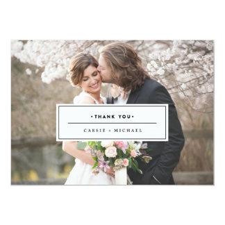 SCHWARZES FOTO DANKEN IHNEN, Hochzeit ZU KARDIEREN 12,7 X 17,8 Cm Einladungskarte