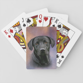 Schwarzes Labrador retriever Pokerkarten