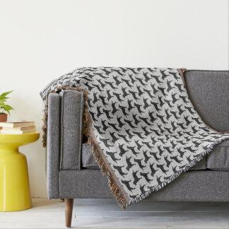 Schwarzes Labrador-Retriever-Silhouette-Muster Decke