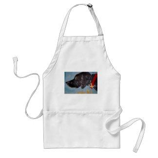 schwarzes Labrador Schürze