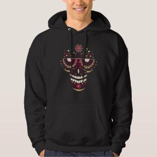 Schwarzes lächelndes Schädel-Masken-langes Hoodie