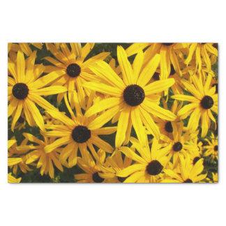 Schwarzes mit Augen Susans mit Blumen Seidenpapier
