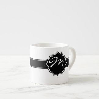Schwarzes mit Monogramm Espresso-Tasse