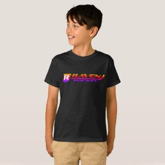 Schwarzes mit Sonnendurchbruch - Raben-Hockey-Logo T-Shirt