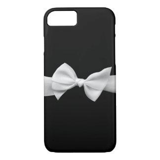Schwarzes mit weißer Bandbogen grafischem iPhone 7 iPhone 8/7 Hülle