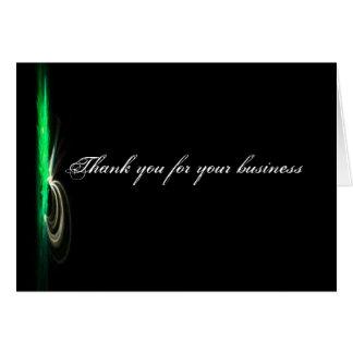 Schwarzes modernes Geschäft danken Ihnen Karte