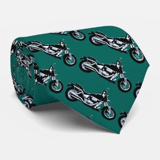 Schwarzes Motorrad Bedruckte Krawatte