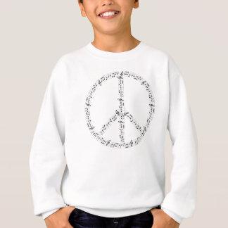 Schwarzes musikalische Anmerkungs-rundes Sweatshirt