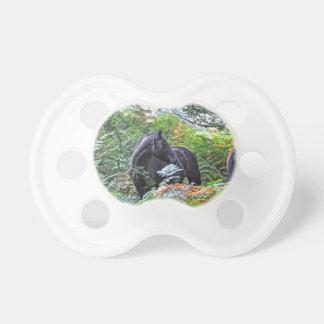 Schwarzes neues Waldpony u. Wald Großbritannien Baby Schnuller