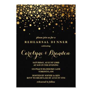 Schwarzes Proben-Abendessen 12,7 X 17,8 Cm Einladungskarte