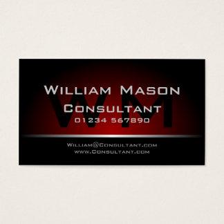 Schwarzes rotes Monogramm beruflich - Visitenkarten
