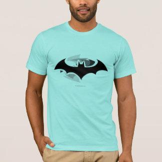 Schwarzes Schatten-Logo Batman-Symbol-  T-Shirt