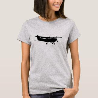 Schwarzes Silhouette-Fliegen Flugzeug-klassisches T-Shirt