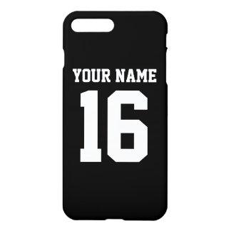Schwarzes sportliches Team Jersey iPhone 8 Plus/7 Plus Hülle