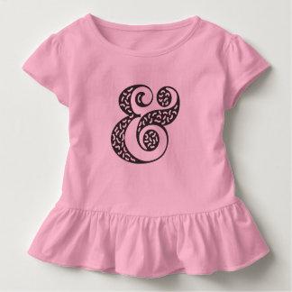 Schwarzes strukturiertes kleinkind t-shirt