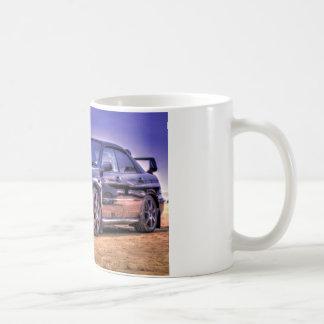 Schwarzes Subaru Impreza WRX WTI Kaffeetasse