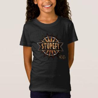 Schwarzes u. Gold Stupefy Bann-Grafik T-Shirt