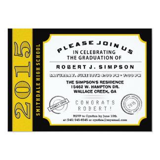 Schwarzes u. Goldkarten-Abschluss-Einladung 12,7 X 17,8 Cm Einladungskarte
