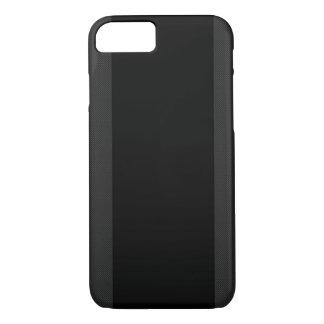 Schwarzes u. Kohlenstoff-Faser Stripes iPhone 7 iPhone 8/7 Hülle