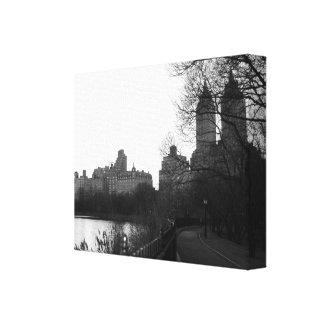 Schwarzes u. Weiß Central Park-New York City NYC Gespannte Galeriedrucke