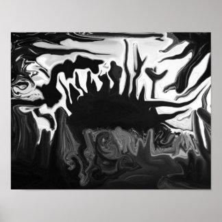 Schwarzes u. weißes abstraktes Plakat