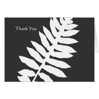 Schwarzes u. weißes Farn-Geschäft danken Ihnen zu Mitteilungskarte