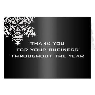 Schwarzes u. weißes Geschäft danken Ihnen Mitteilungskarte