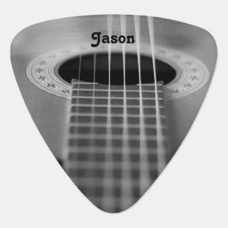 Schwarzes u. weißes Gitarren-Fotografie-Plektrum Pick