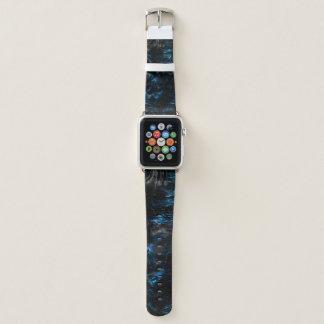Schwarzes und blaues psychedelisches apple watch armband
