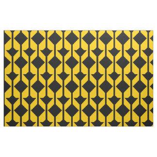 Schwarzes und Gelb-GoldAbstrakt-gemustertes Gewebe Stoff