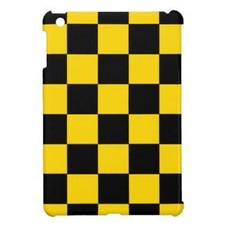 Schwarzes und gelbes kariertes iPad mini glatter iPad Mini Hüllen