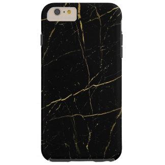 Schwarzes und Goldmarmor Tough iPhone 6 Plus Hülle