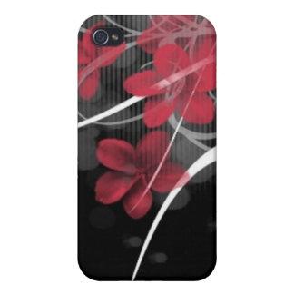 Schwarzes und Rot iPhone 4 Hüllen