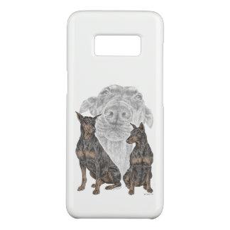 Schwarzes und TAN-Dobermann-Hunde Case-Mate Samsung Galaxy S8 Hülle