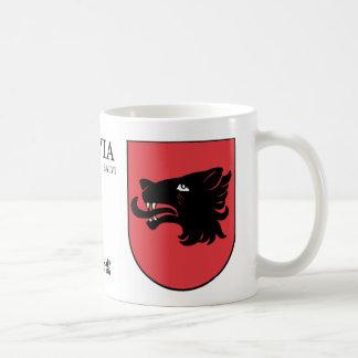 Schwarzes Wolf-Schild von Balvi, Lettland Kaffeetasse