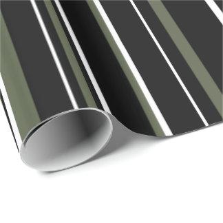 Schwarzes, Zypresse-Kiefern-Grün-und Geschenkpapier
