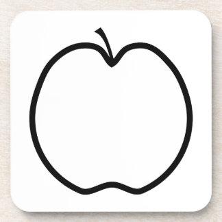 Schwarzweiss-Apple Drink Untersetzer