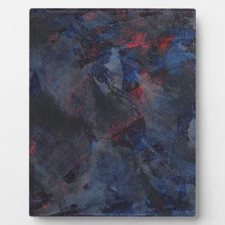 Schwarzweiss auf blauem und rotem Hintergrund Fotoplatte