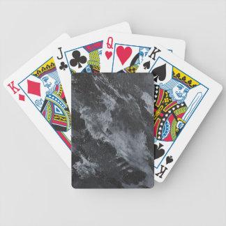 Schwarzweiss auf Schwarzem Bicycle Spielkarten