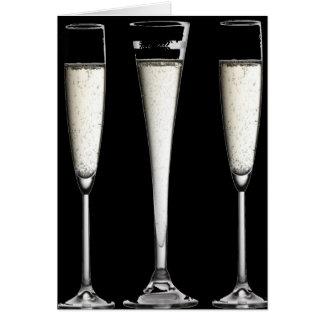 Schwarzweiss-Champagne-Gläser Karte