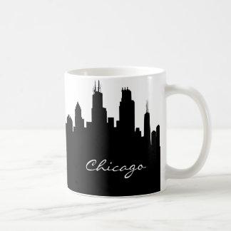 Schwarzweiss-Chicago-Skyline Tasse