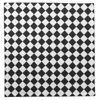 Schwarzweiss-Diamant-Muster durch Shirley Taylor Stoffserviette