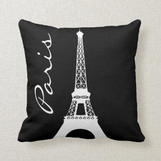 Schwarzweiss-Eiffelturm-Paris-Wurfs-Kissen Kissen