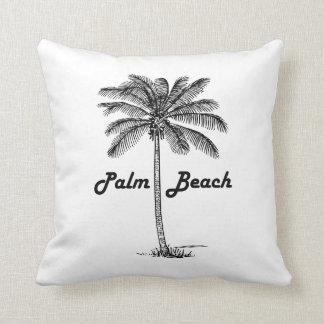 Schwarzweiss-Entwurf des Palm Beach Florida u. der Kissen