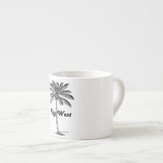 Schwarzweiss-Entwurf Key Wests Florida u. der Espressotasse