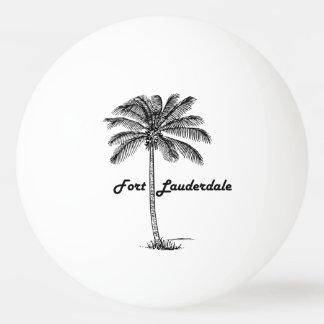 Schwarzweiss-Fort Lauderdale- u. Palmenentwurf Tischtennis Ball