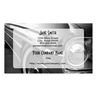 Schwarzweiss-frisiertes Auto Visitenkartenvorlage