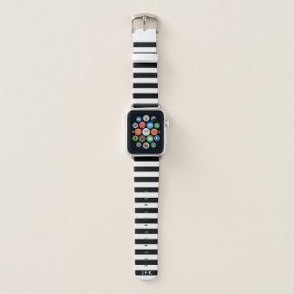 Schwarzweiss-gestreiftes des kundenspezifischen apple watch armband