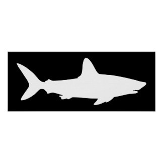 Schwarzweiss-Haifisch Poster